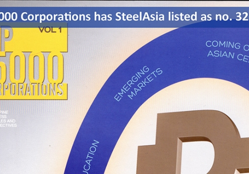 Top 15000 Corporations has SteelAsia listed as No. 32.